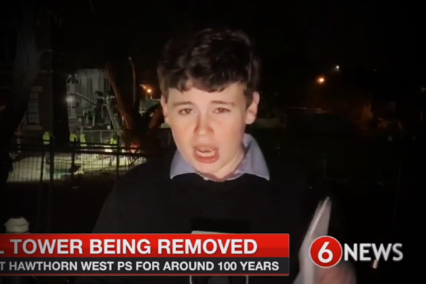 Article image for Historic Hawthorn icon ripped down — and this kid scooped us