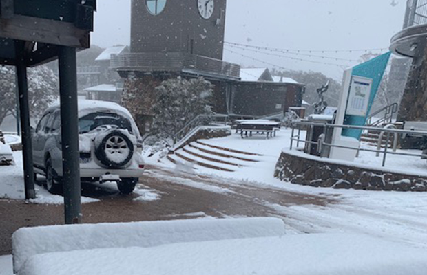 Article image for 'We are open for business' – and it's DEFINITELY snowing!