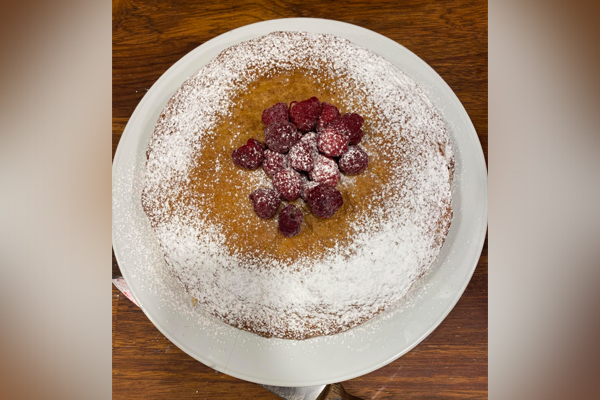 Article image for Adrian Richardson's raspberry and olive oil cake