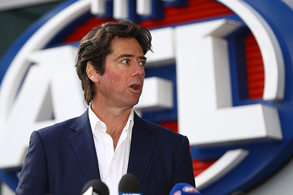 Article image for A 'pretty frustrated' AFL boss summons clubs to phone hook-up