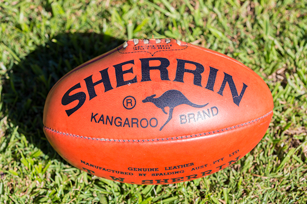 Article image for Sherrin granted government exemption to produce AFL finals footballs