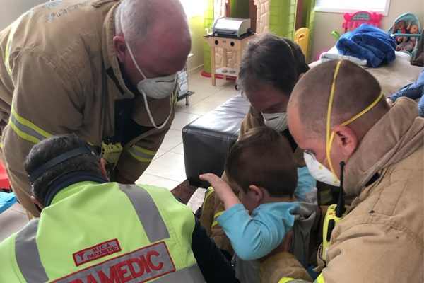 Article image for Emergency services called in to free four-year-old Alessio from Chupa Chups tin