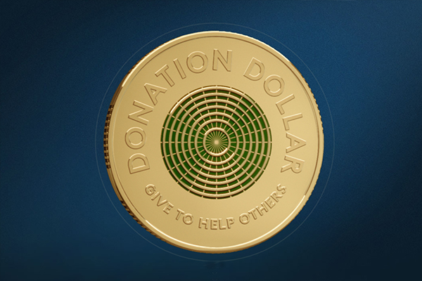 Article image for Australia's new dollar coin is designed to be given away to charity
