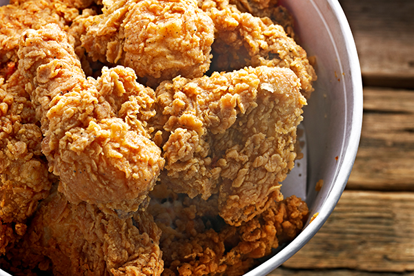 Article image for Adrian Richardson's no-fry 'fried' chicken