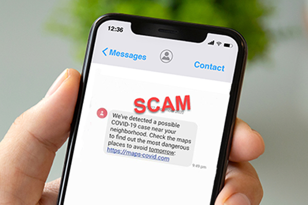 Article image for Victorians warned to watch out for convincing scam messages about COVID-19