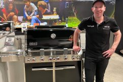 Lachie Strachan's recipe for BBQ mangoes and peaches