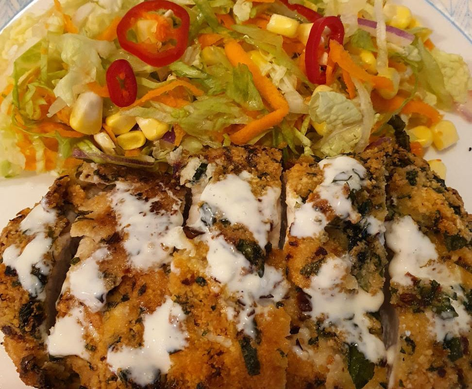 Article image for Dining with Den – Almond and coriander chicken with lemon mayonnaise