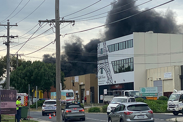 Article image for Big blaze in Melbourne's north-west