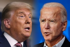 US election: Trump falsely claims he has 'easily won' as Biden calls for calm