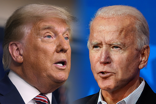 Article image for US election: Trump falsely claims he has 'easily won' as Biden calls for calm