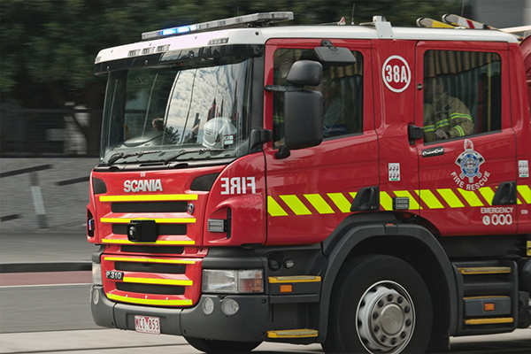 Article image for Three hospitalised after fire at three-storey Richmond apartment building