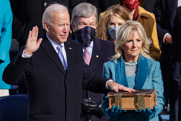 Article image for 'End this uncivil war': Joe Biden sworn in as 46th US President