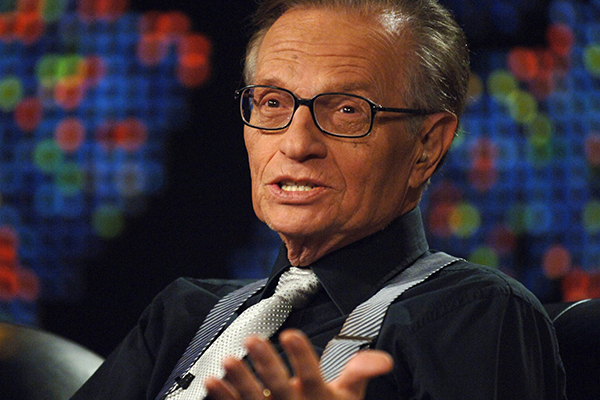 Article image for FROM THE ARCHIVES: Larry King joins 3AW Breakfast!