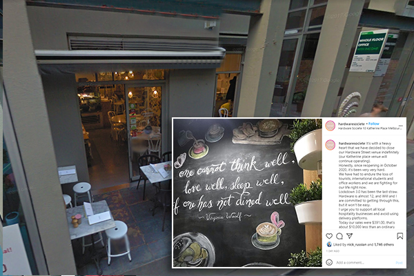Article image for Lockdown 'seesaw' forces popular Melbourne cafe to shut its doors