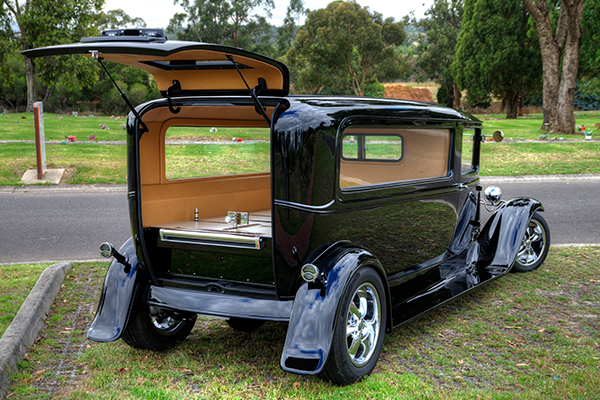 Article image for Hot rod hearse: Melbourne funeral home unveils one of Australia's most unusual funeral cars