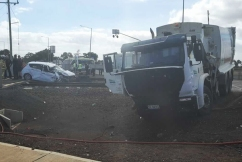 V/Line train collides with car and truck in Melbourne's outer-west