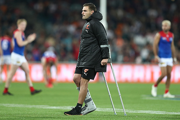 Article image for GWS suffers triple injury blow to key trio