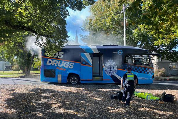 Article image for Entire Victoria Police booze bus fleet expected to be off the roads until late May