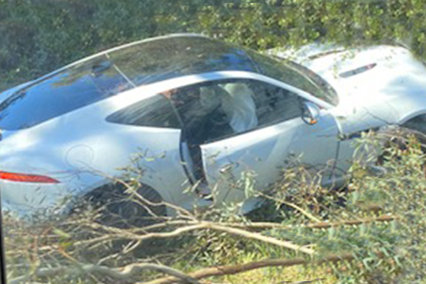 Article image for Porsche collides with a tree at Eltham