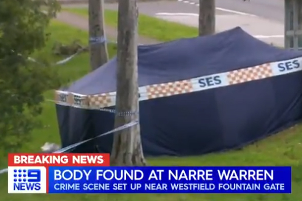 Article image for Man's body found on side of road in Melbourne's south-east