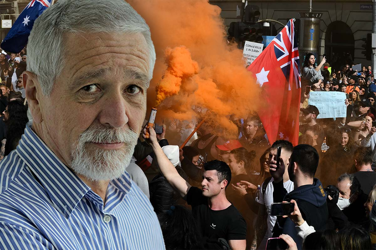 Article image for How Neil Mitchell thinks 'frustrated' anti-lockdown protesters should be dealt with