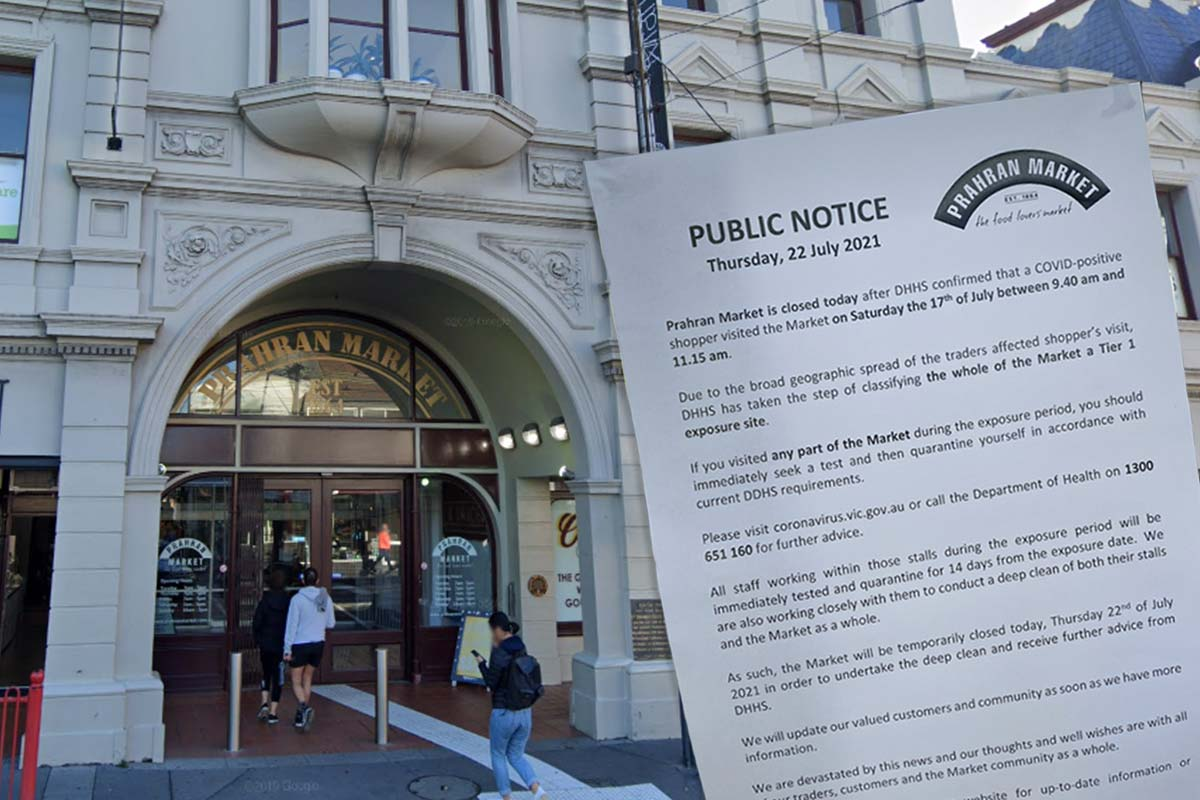 Article image for Prahran Market identified as a Tier 1 exposure site