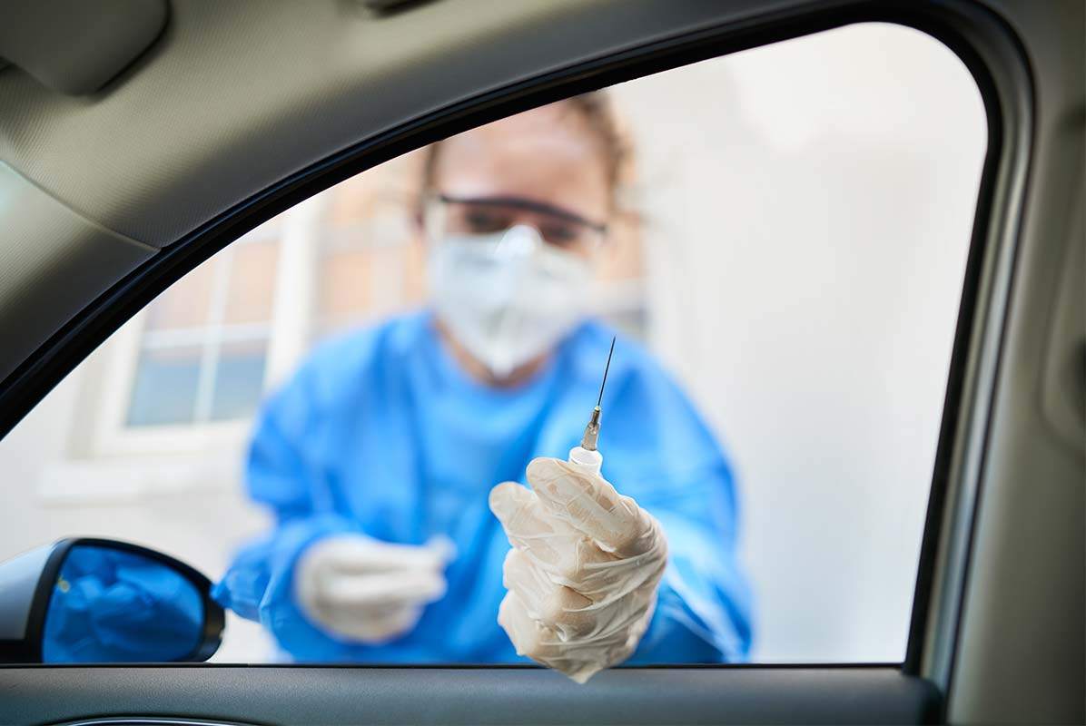 Article image for Australia's first drive-through vaccination hub opens in Melbourne's west