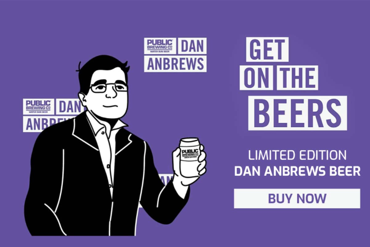 Article image for Dan Anbrews: A Melbourne brewery has released a beer named after the Premier