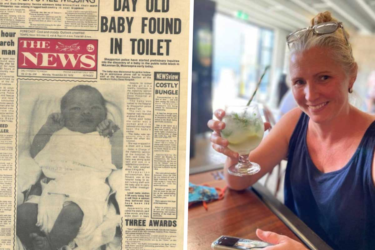 Article image for Woman searches for mother 42 years after being abandoned in a public toilet